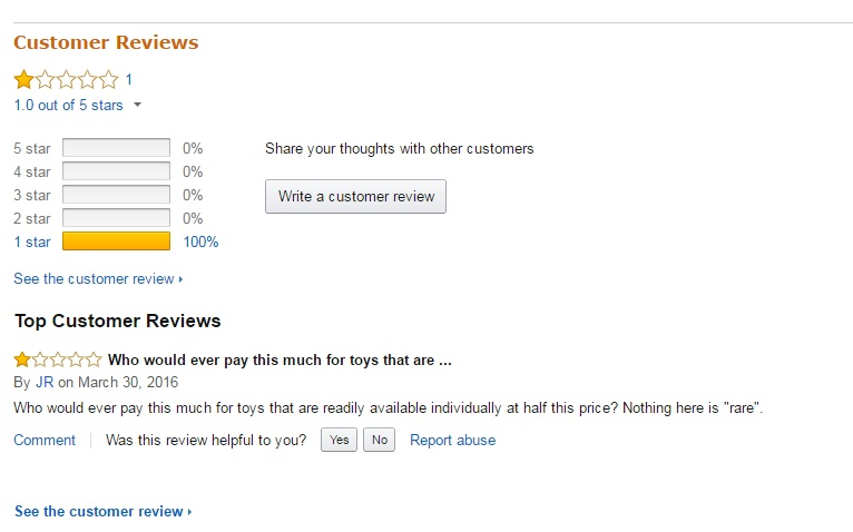 unanswered review example on amazon