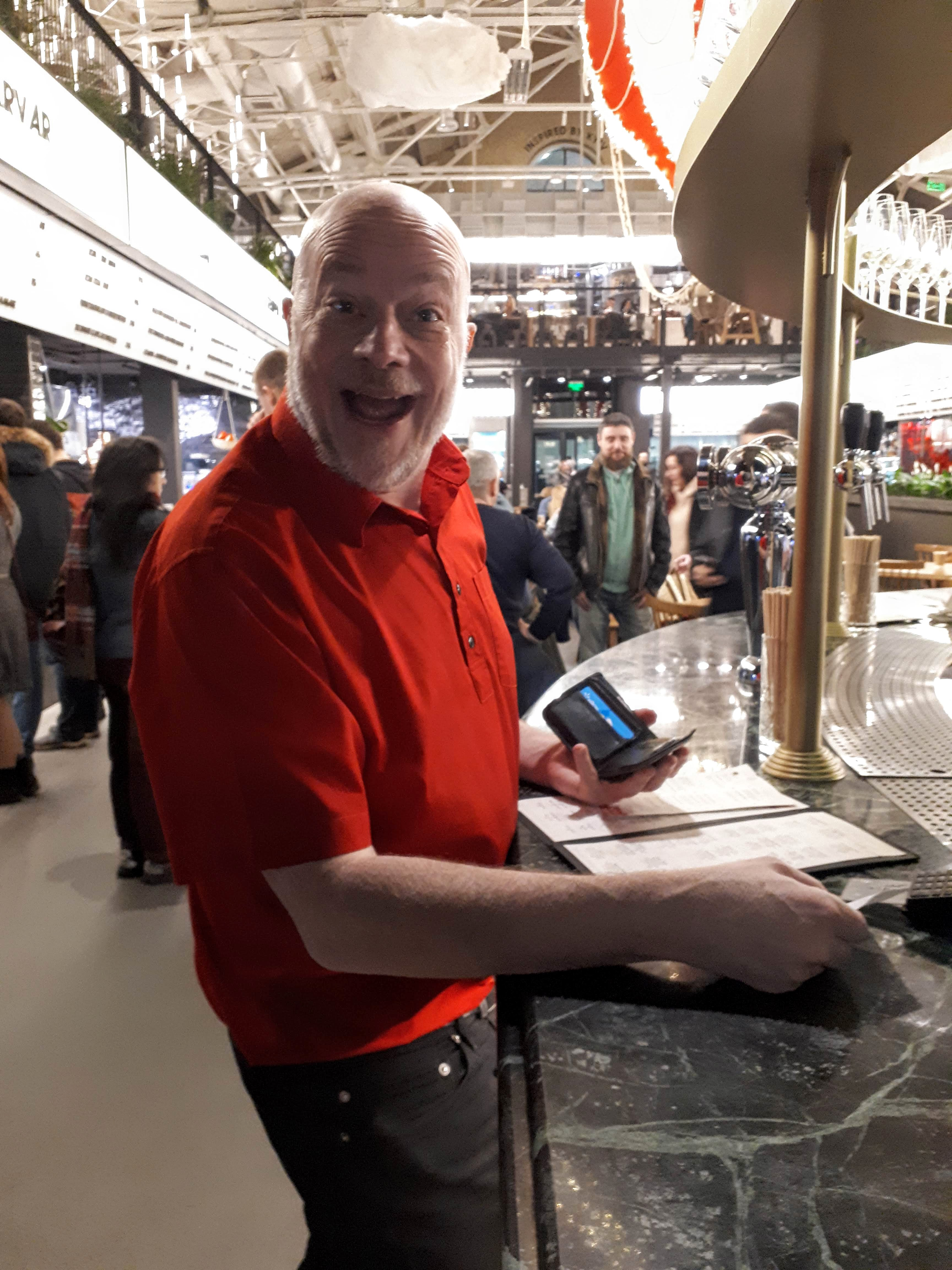 Smiling Jason in Kyiv food market